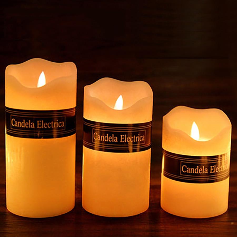 Decorative Battery Led Candle Pillar Velas Bougies D Coratives Bar