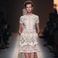 Настройки Вышивка 2018 сезон: весна–лето Италия платье выдалбливают Шелковый хлопок Кружево Vestidos женское платье