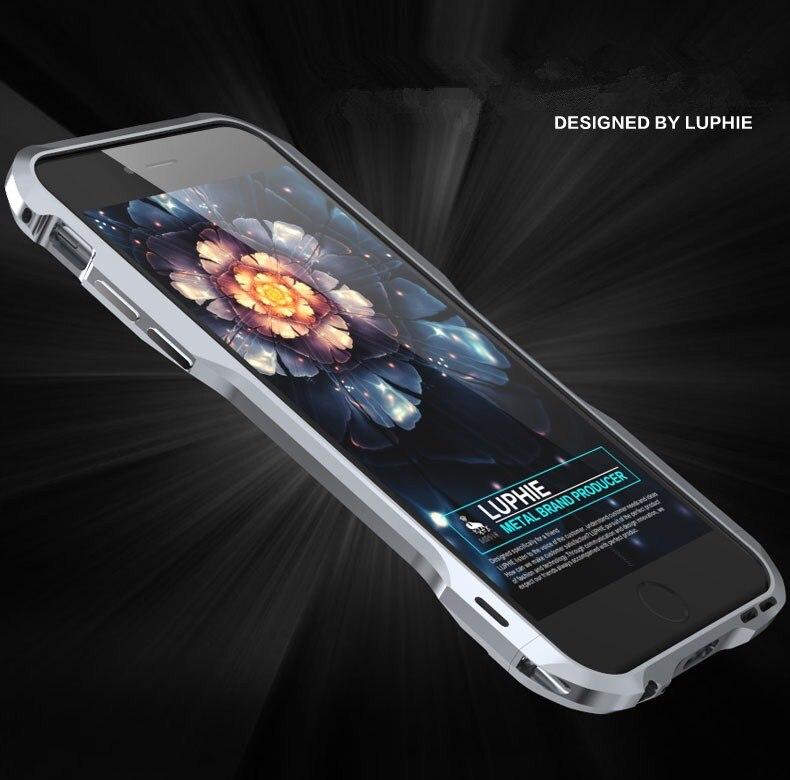 bilder für Luphie neueste version stoßfest rüstung unregelmäßig aluminium metall schraube rahmenstoßdämpfer für iphone 6 6 s plus 7 plus fall abdeckung