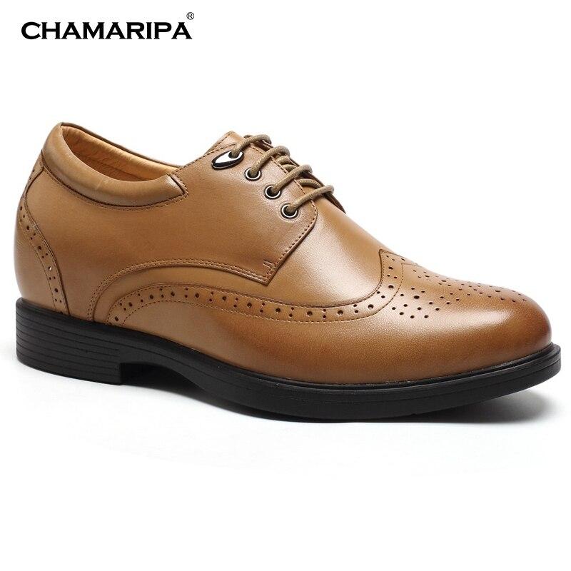 CHAMARIPA Increase Height 8cm 3 15 inch font b Men b font Elevator font b Shoe