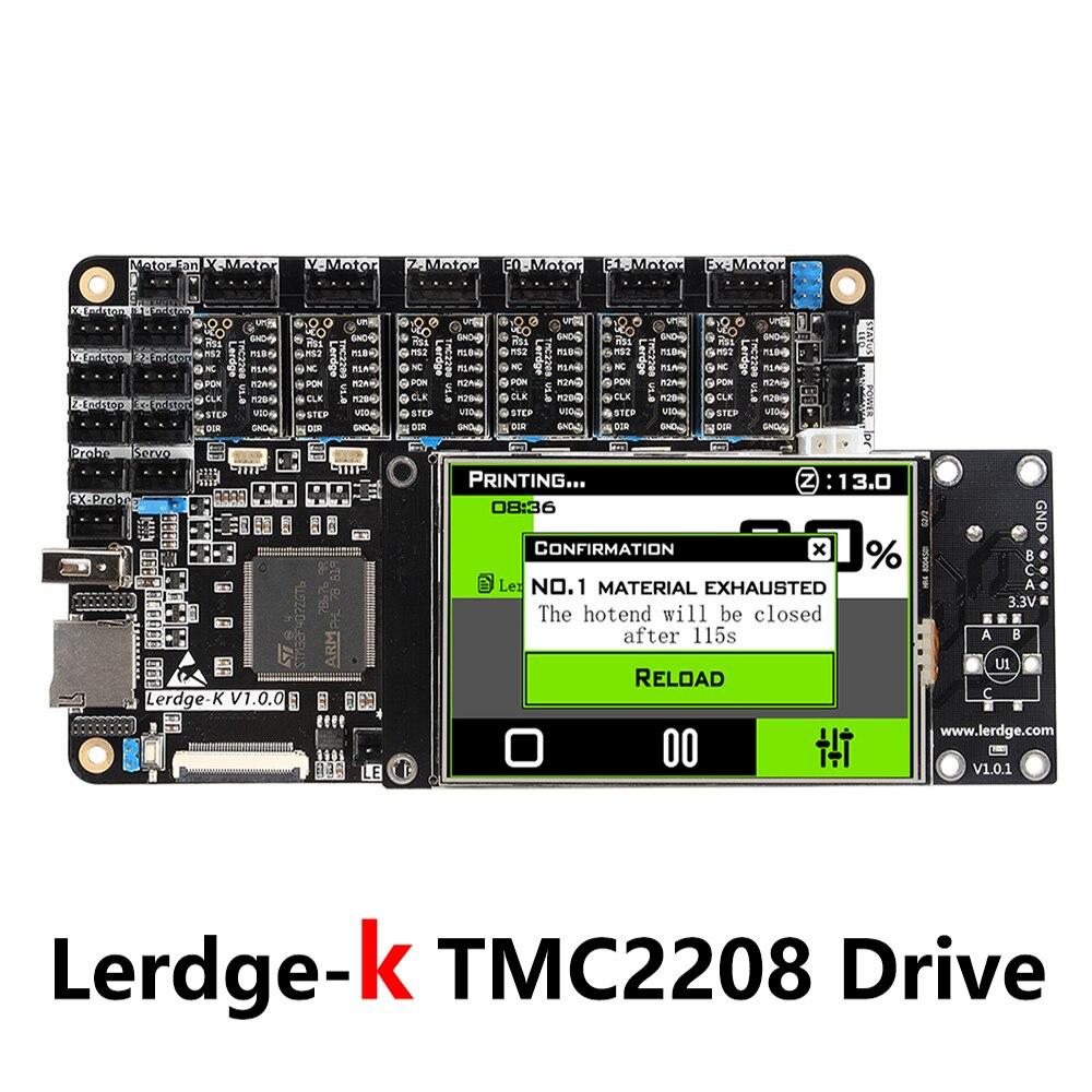 LERDGE-K Conseil Amélioré Lerdge S BRAS 32Bit Contrôleur Carte Mère TMC2208 DRV8825 LV8729 pilote pour 3D Imprimante Diy NTC100K PT100 - 2