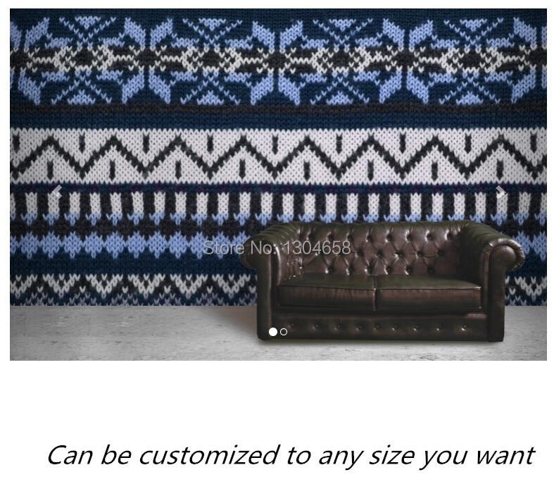 Online Shop Free shipping custom- modern 3D wallpaper Fairisle ...