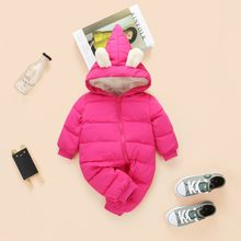 ea5a5153d56a Popular Children Newborn Winter Rompers Duck Down Jumpsuit-Buy Cheap ...