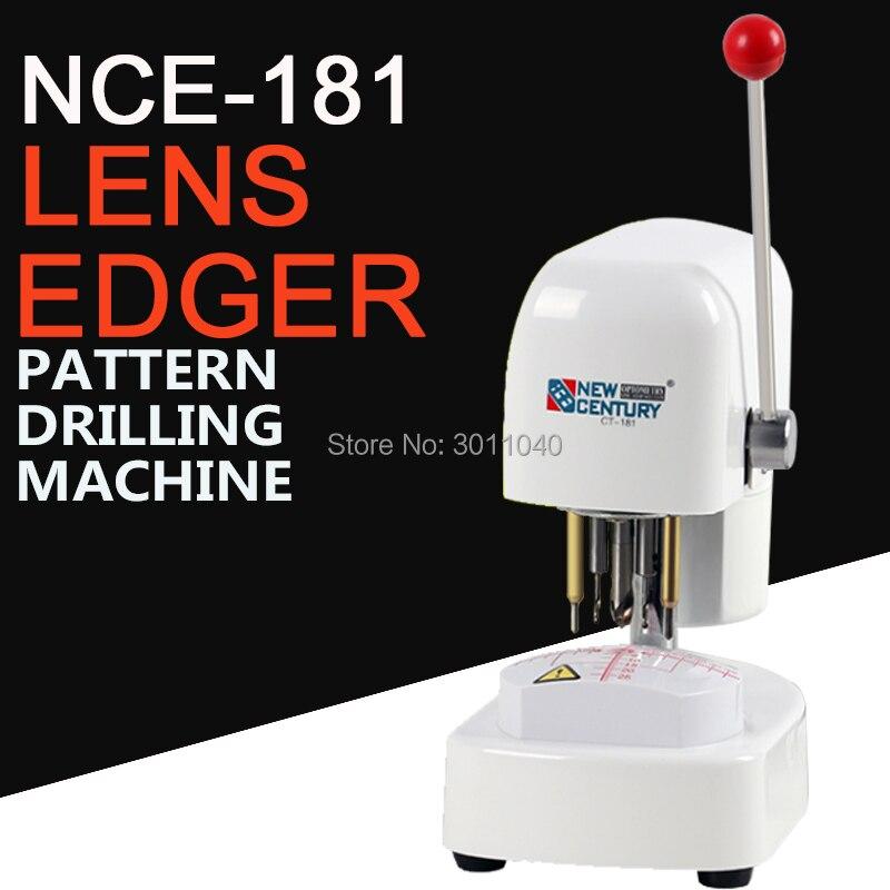 NCE-181Three löcher Muster Bohren Maschine objektiv vorlage punch kunststoff abdeckung