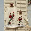 2016 осень зима clothing Мать Дочь Платья Мамы и Девочек партия Бренд Девочек Одежда Большой Цветок Розы Платье Принцессы