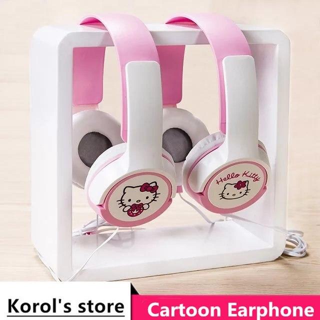 2017 Good Gift Cartoon Earphone Hello Kitty Wired 3.5mm <font><b>Plug</b></font> Headphones For MP3 MP4 For iphone Samsung Xiaomi <font><b>Smartphone</b></font> Headset
