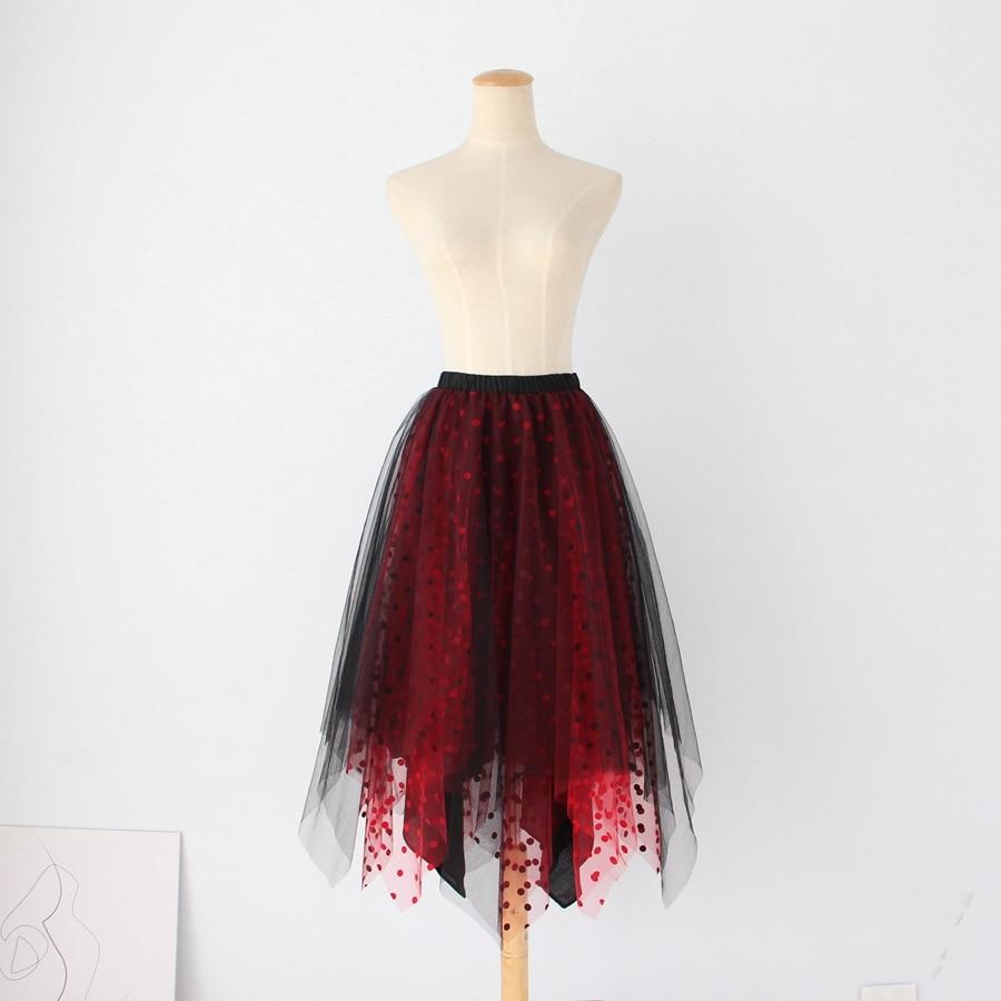 2018 New Irregular Half Slips Intimates Woman Slips Underskirt Intimate Wear red black