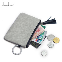 Women Casual Coin Purses Mini Purse Genuine Leather Female Wallets Coin Pouch Purse for Girls Mini Bag