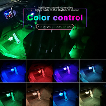 DXZ Car-styling Interior Atmosphere Light Strip 9 LED Decorative Lamp Auto RGB Music Voice Sound Remote Control Floor bump 12V lit 45 x 11cm car decorative voice sensor sound controlled 5 color led light sticker multicolored