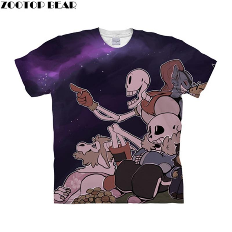 Undertale Resting Team 3D Women t shirts Travel Summer tshirt Men t-shirt Tee Short Sleeve Shirt Streetwear Dropship ZOOTOPBEAR