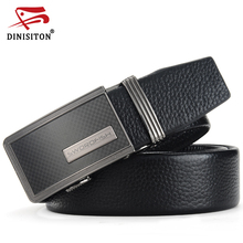 DINISITON Men belts Luxury designer Top quality Genuine leather belt man First Layer Cow Skin strap Jeans girdle for male