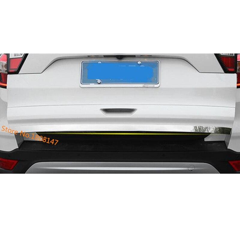 Offre spéciale pour Ford Kuga 2017 2018 2019 voiture style autocollant coffre pare-chocs arrière porte arrière hayon bas cadre plaque garniture capot 1 pièces