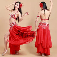Free shipping nice belly dancing Costumes 3pcs/set india egypt performance show dancing Clothes Costumes dancing Wears