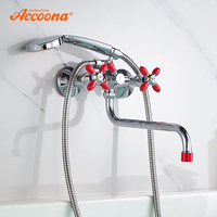 Accoona Bathtub Faucets Shower Set Shower Head Bathroom Dual Holder Dual Control Shower Bathtub Faucet Bath Faucet A7182