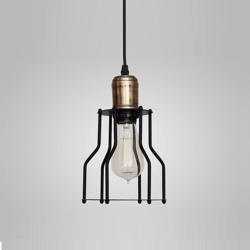 ФОТО Vintage Iron Pendant Light Lamp Loft Creative Personality Industrial Lamp Edison Bulb American Style For Living Room