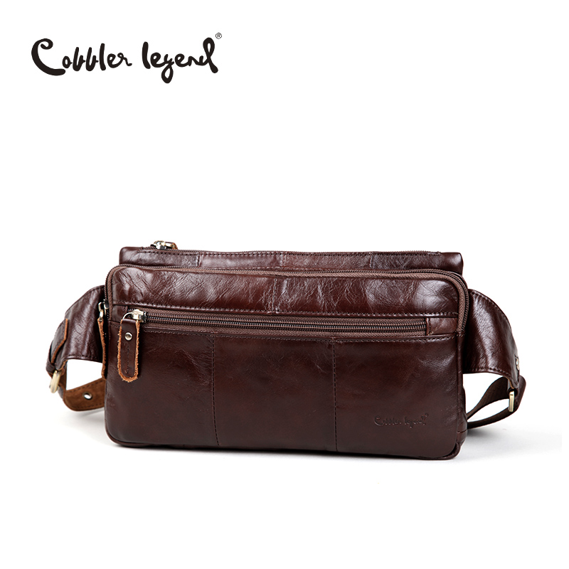 Cobbler Legend Genuine leather men's purse retro trend of chest pack first layer of cowhide leather casual messenger chest bags cobbler legend 2015 messenger 100
