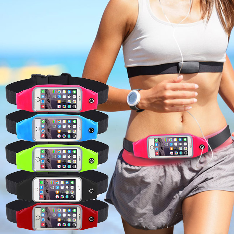 Gym Waist Bag Waterproof Sport Accessories Universal Phone Case Pouch For iPhone 6S Plus Samsung Galaxy J5 S7 S6 S5 A3 A5 2016