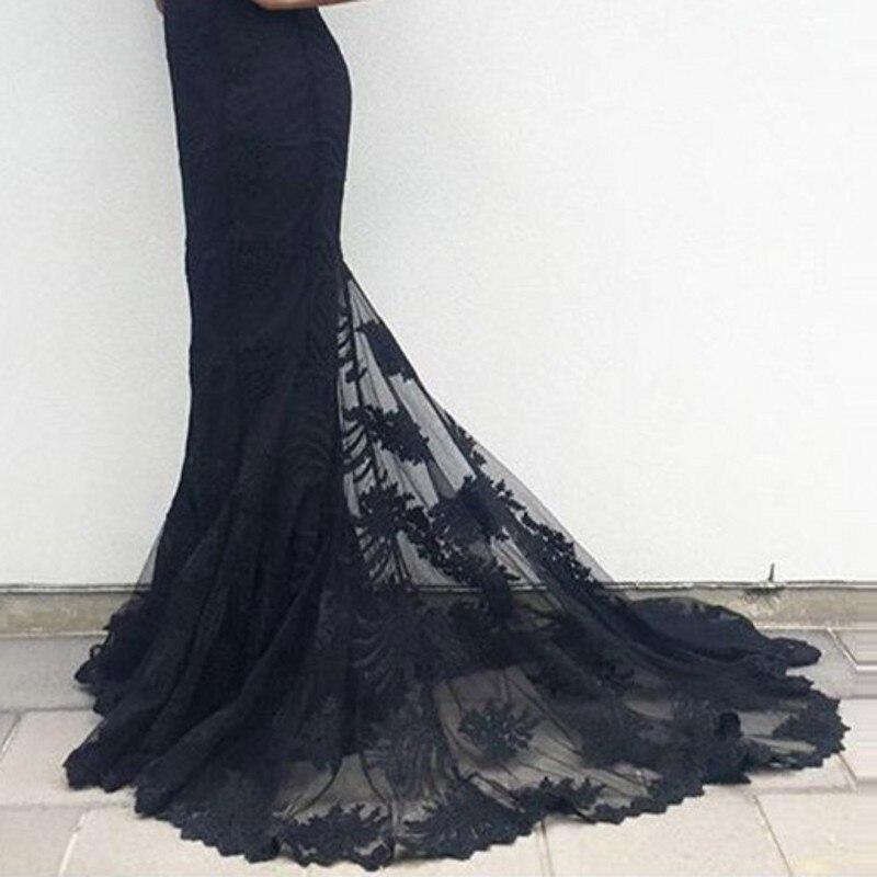Elegant Long Black Lace Gown Mermaid Evening Dress Abayas Off The Shoulder  Meerjungfrau Kleid Formal Dresses Saree Wear Dinner-in Evening Dresses from  ... 62f4e2d0d