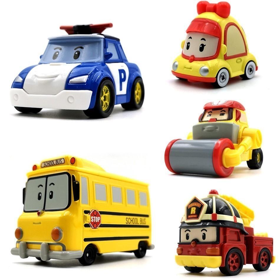 22 Style Robocar Poli Anime Cartoon Action Figures Car Toys Robocar Poli Anba Metal Car Modeltoys For Children Gifts