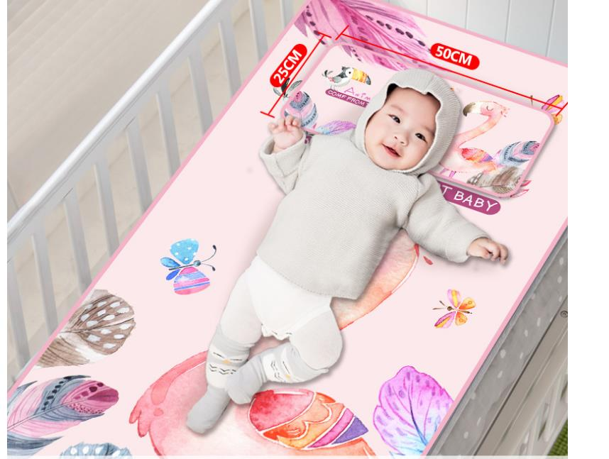 2019 New Breathable Cool Washable Newborn Toddler Bed Under Pad Baby Summer Sleeping Ice Silk Fiber Infant Crib Mat Mattress