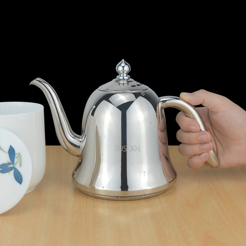 New Style 304 Stainless Steel Teapot With Infuser Strainer Heat Coffee Tea Pot Tool Kettle Set for Home
