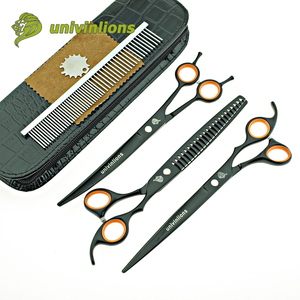 "Image 1 - univinlions 8"" grooming shears dog grooming scissors cut dog cat scissors grooming pet scissor horse trimmer animal clippers set"