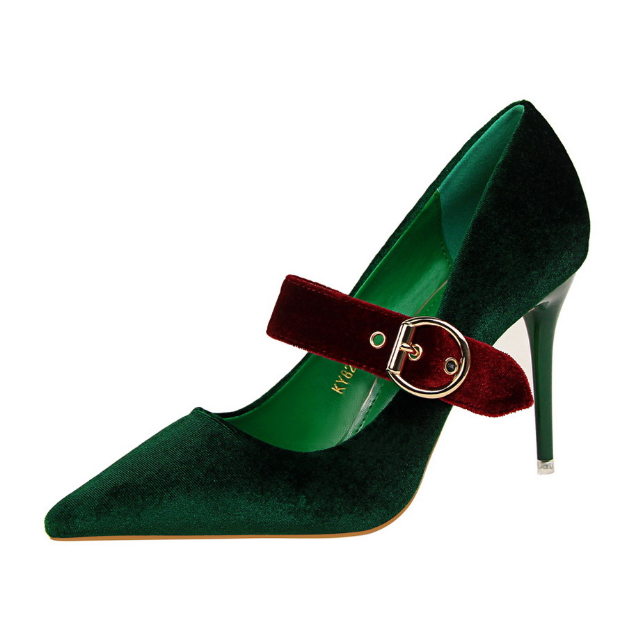 Summer Spring Female Pumps Suede High Heels Thin Shallow Pointed Single Shoes Mary Janes Shoes Female fashion banquet high heels new spring pumps fashion sexy slim thin high heels suede belt buckle shallow pointed high heeled shoes elegant stiletto g2586 35