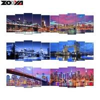 Zhui Star 5d Diy Diamond Embroidery Night City Scenic Diamond Painting Cross Stitch Full Drill Rhinestone