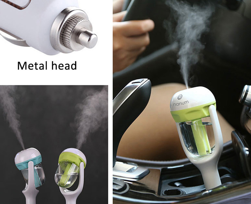 Move rotation Mini Car Air Humidifier cool mist Purifier in Car Aroma essential oil Diffuser Humidifier Aromatherapy Portable цена