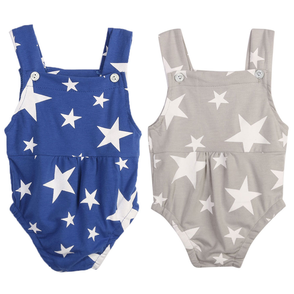 Baby Romper Infant Toddler Sleeveless Rompers Star Print Jumpsuit Sunsuit Cotton Sleeveless Romper Outfit Clothing 0 to 18M newborn baby rompers baby clothing 100% cotton infant jumpsuit ropa bebe long sleeve girl boys rompers costumes baby romper