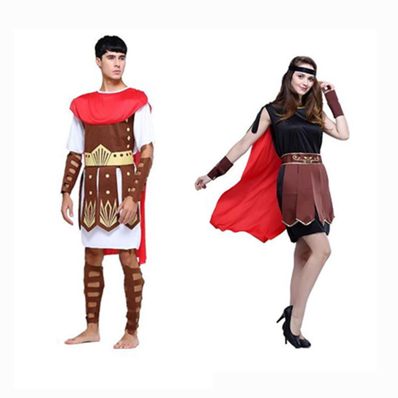 Costume de Cosplay d'halloween Costume grec romain ancien adulte hommes femme guerrier mascarade Costume de Cosplay fête de carnaval
