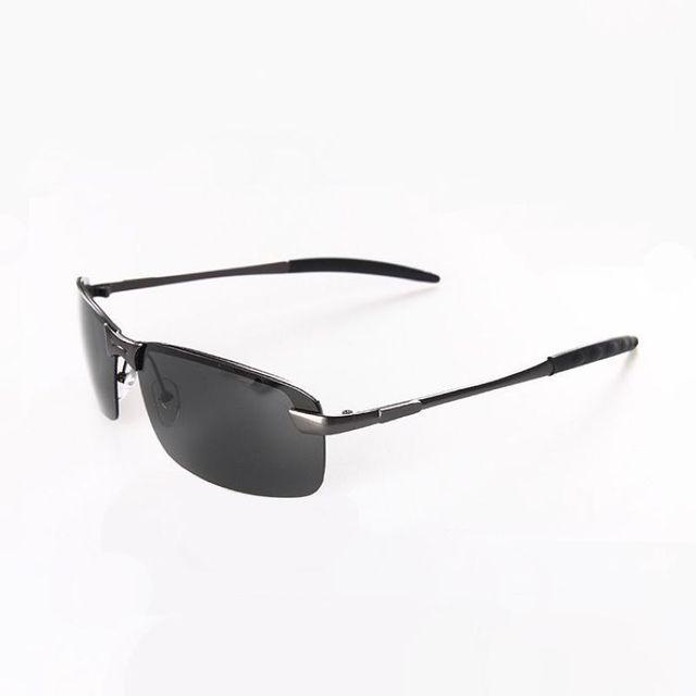 Sin montura deporte polarizado sin marco gafas de sol para hombres ...