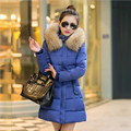 2016 Women Winter Jacket Hooded Cotton Padded Coat Thickening Parkas For Women Plus Size Good Quality Slim Fur Outerwear YY145