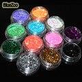 BlueZoo Color Mezclado Brillo Del clavo Del Arte Del Clavo de La Decoración Con caja de Polvo Del Brillo de Uñas Decoración Del Arte Del Clavo Pegatinas Consejos de Belleza herramientas