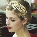 2017 новое Барокко женщины золотые листья Hairband Свадебный Повязка Свадебное Платье Аксессуары Женщины luxury brand дизайнер Ювелирных Изделий волос