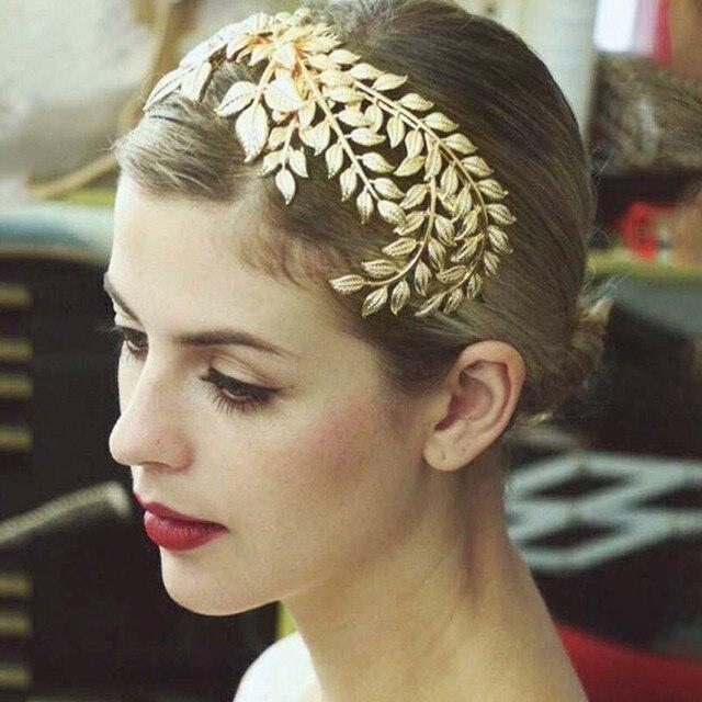c9f90f7fd4fd43 2017 nowy barokowy kobiet złoty liście opaska do włosów dla nowożeńców z  pałąkiem na głowę suknia