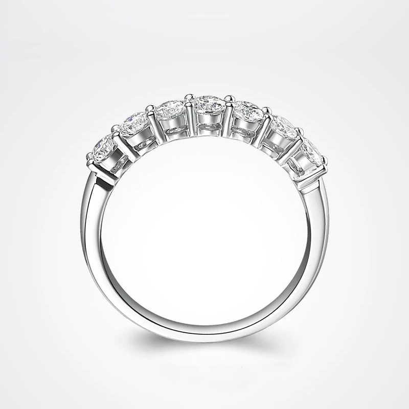 คลาสสิก 14K สีขาวทอง DF สี 925 เงินสเตอร์ลิง Moissanite แหวนเครื่องประดับงานแต่งงานแหวน