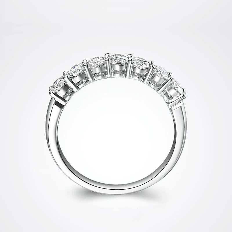 Image 3 - Classic 14K White Gold DF color 925 sterling silver Moissanite ring party jewelry Wedding Anniversary Ring-in Rings from Jewelry & Accessories