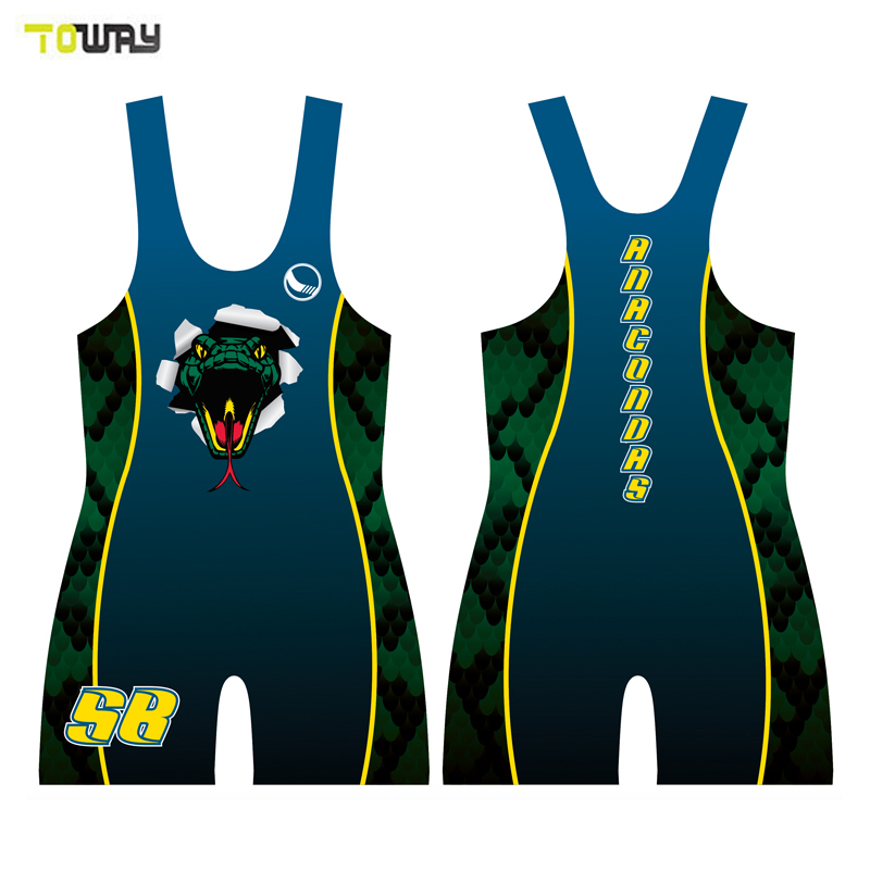 Custom Training Nylon Sexy Women Wrestling Singlet