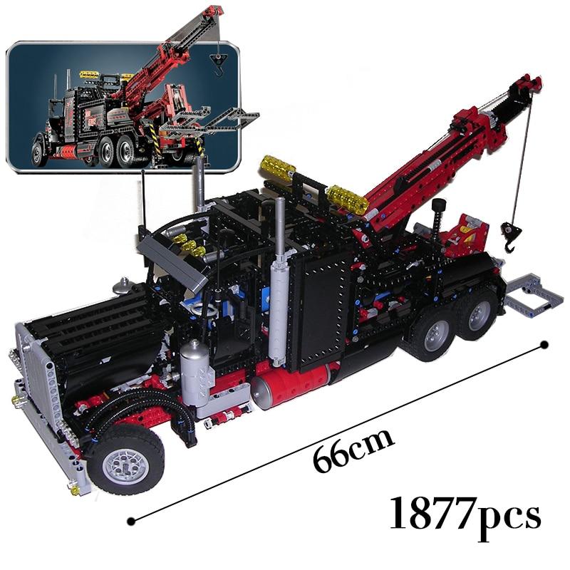 LEPIN Technic Série 1927 pcs L'américain camions lourds Modèle blocs De Construction Briques legoINGly 8285 jouets pour enfants
