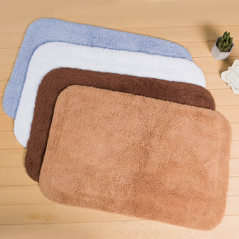 New High Quality Cotton Bathroom Mat Carpet Non Slip Doormat Toilet Rugs Floor Mats Foot Pad Mattress for Bathroom Decor Tapetes
