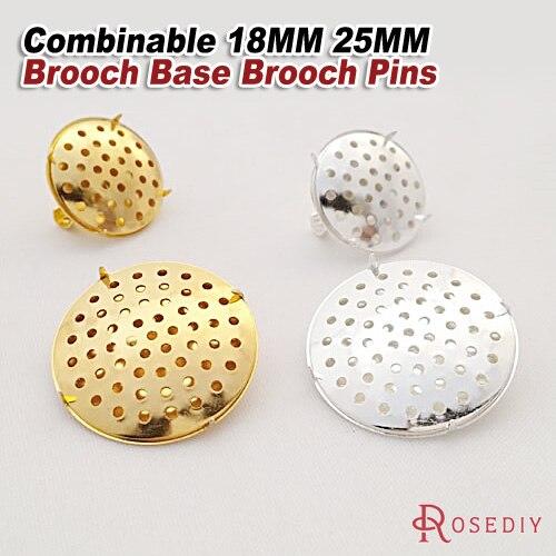 Broche redondo de 25 mm con base en blanco y pasador de seguridad de 25 mm paquete de 10 25mm 1/″ Round Bronce envejecido. cabuj/ón redondo