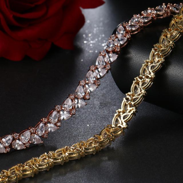 Zirconia Crystal Charm  Bracelet