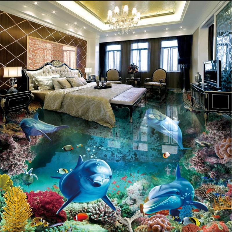 beibehang Custom nonwovens wallpaper beautiful underwater world 3D on living room underwater, bedroom underwater, bathroom art underwater, bathroom under the sea,