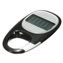 KeyChain 3D Smart Sensor Run Step Pedometer Carabiner Walking Motion Calorie LCD Display Counter Tracker+Button Battery+Manual
