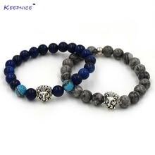 Новые брендовые модные бриллиантовые браслеты для мужчин бусины