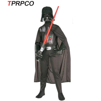 Kids Darth Vader Costume Darth Vader Jumpsuit Black Clothing With Cape Christmas Holiday Cosplay For Boys