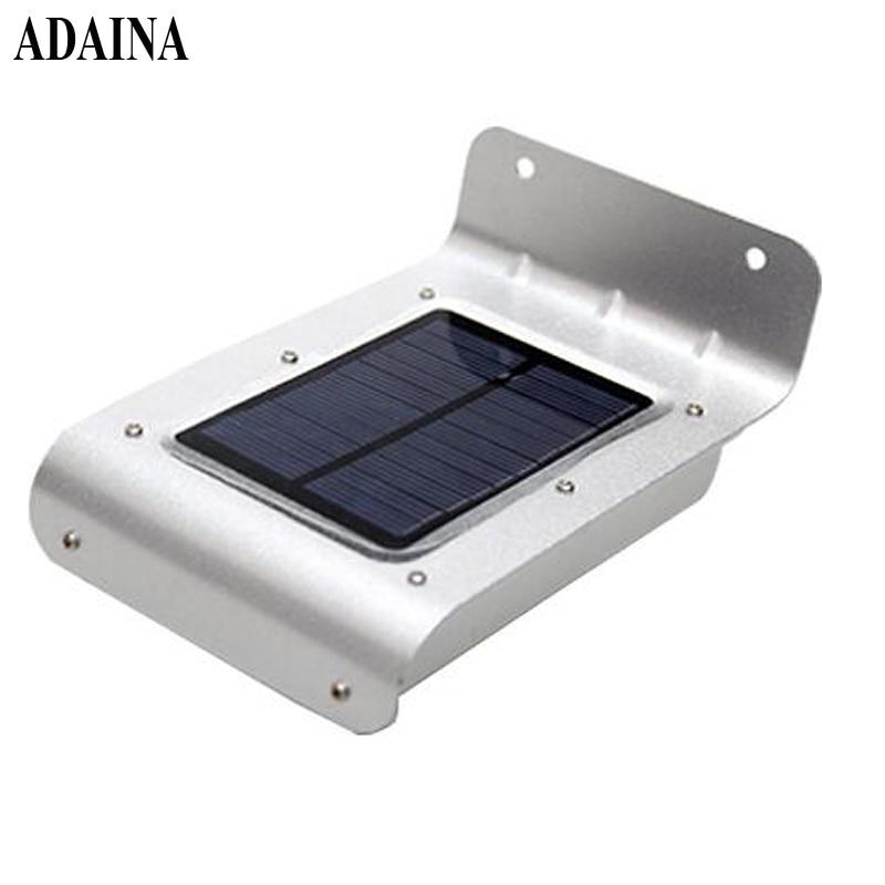 Aluminium IP65 Motion Sensor Væglamper Path Lights 16 LED'er Solar Light Outdoor Garden Light Vandtæt Energi Infrarød led lampe