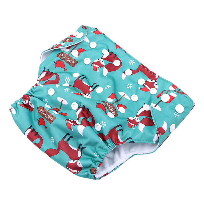 High Quality Baby Cloth Diaper New Fashion Cartoon Animal Print Microfiber Insert Baby Nappies With Liners Unique Diaper Covers