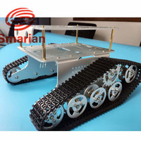 Official smarian TD300 Metal Tank Chassis Smart Track Tracked Vehicle with Two Carbon Brush Motor DIY RC Toy Remote Control